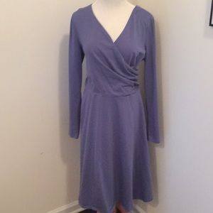 Cotton Faux-wrap dress